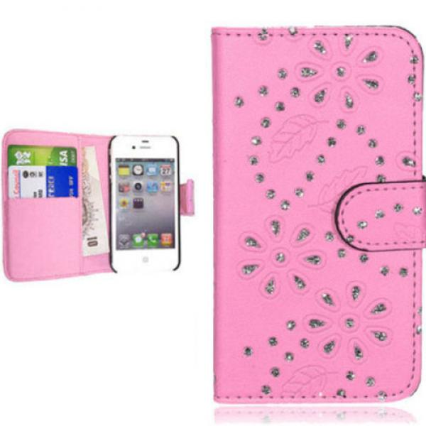 iPhone-4-4S-5-5S-handy-tasche-case-klapp-schutz-huelle-cover-strass-glitzer-bling