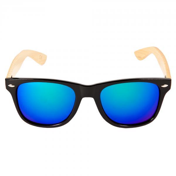 Bambus Holz Sonnenbrille Damen Herren Unisex Nerdbrille Fashion Schwarz Jv9mas3ET6