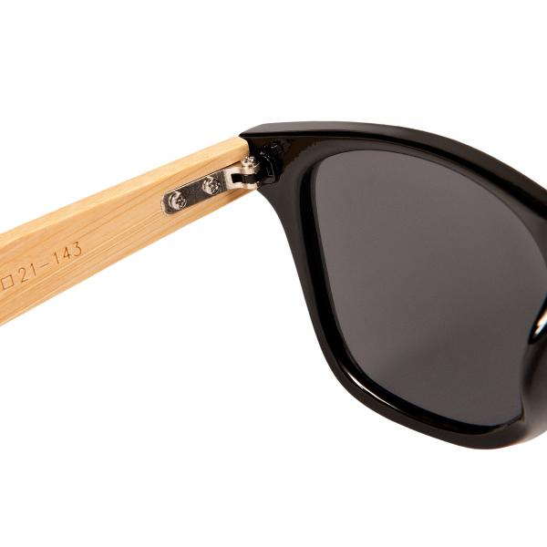 Bambus Holz Sonnenbrille Damen Herren Unisex Nerdbrille Fashion Schwarz jqVSlWuF